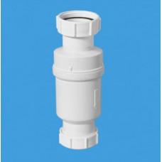 """Самозакрывающийся сливной клапан (""""сухой"""" сифон); вход 1 1/2""""«мама», выход компрессионный Ду=40мм. Упакован в пластиковый пакет McAlpine"""