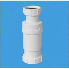 """Самозакрывающийся сливной клапан (""""сухой"""" сифон); вход 1 1/2""""«мама», выход компрессионный Ду=50мм. Упакован в пластиковый пакет McAlpine"""