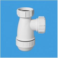 Сифон бутылочный (1 1/4''x32мм) без выпуска и возможности регулировки по высоте; выход компрессионный Ду=32мм