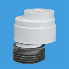 Вентиляционный клапан (аэратор) для канализации со смещением и манжетой; выход вставляется внури