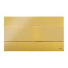 Панель механическая  двойного  слива для инсталляций OLI SLIM золото