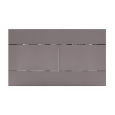 Панель механическая  двойного  слива для инсталляций OLI Soft-touch серый