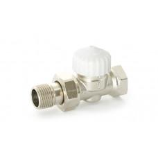 """Uni-Fitt Вентиль термостатический прямой НВ UNI-FITT 1/2"""" никелированный с разъёмным соединением"""