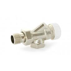 """Uni-Fitt Вентиль термостатический осевой НВ TERMO 1/2"""" никелированный с разъёмным соединением"""