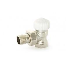 """Uni-Fitt Вентиль термостатический НB THERMO UNI-FITT угловой 1/2""""  никелированный с разъёмным соединением"""