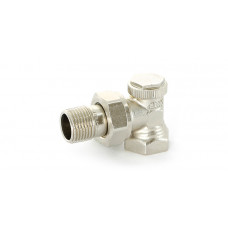 """Uni-Fitt Вентиль обратный никелированный угловой НВ THERMO UNI-FITT 1/2"""" с разъемным соединением"""