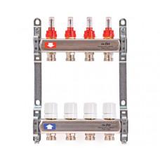 Uni-Fitt Коллекторная группа из нержавеющей стали с  расходомерами и термостатическими вентилями,4