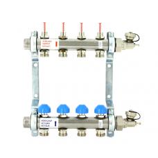 Uni-Fitt Коллекторная группа из нержавеющей стали с  расходомерами и термостатическими вентилями,12